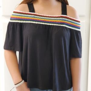 Small Black Off the Shoulder Blouse